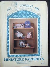 Miniature Shelf Animals All Cooped Up Pattern 102 Becky Tuttle UC/FF 1980s NOS
