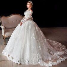New Ball Gown Luxury Half Sleeve Wedding Dress Bridal Gown Custom Plus Size 2-28