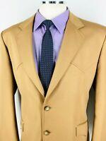 44S Circle S USA Mens Western Wear 2 Button Blazer Sport Coat Jacket Tan