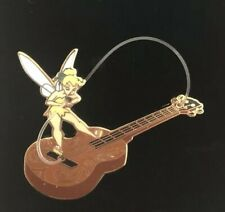 Disney Tinker Bell with Guitar Objects Pin LE 500 Tinkerbell Peter Pan Hook