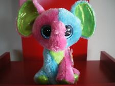 Ty Beanie Boos ELFIE the elephant 6 inch NWMT. NEW JUSTICE EXCLUSIVE- IN STOCK.