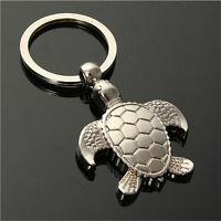 1X 7.8cm Sea Turtle Pendent Keychains Keyring Keyfob Key Ring Holder Lovel w/