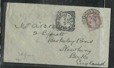 SOUTH AFRICA  COVER (P0506B) 1900 BOER WAR QV 1/2D GB ARMY PO SENT TO ENGLAND