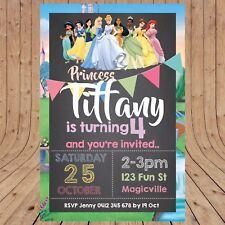 Personalised DISNEY PRINCESS Kids Party Birthday  Invitations DIGITAL YOU PRINT