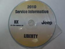 2010 JEEP LIBERTY Service Shop Repair Manual CD DVD BRAND NEW FACTORY OEM