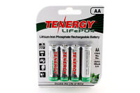 Card: 4pc Tenergy AA 3.2V 400mAh LiFePO4 Rechargeable Batteries for Solar Lights