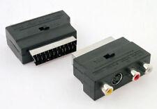 Adaptador Entrada  Salida de Euroconector  RCA Audio Video y Super video S-video