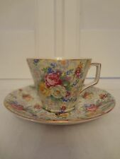 Vintage Lord Nelson Chintz Rose Time Cup & Saucer Beautiful! Unused Condition!