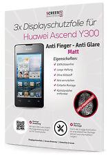 3x Displayschutzfolie für Huawei Ascend Y300 Matt Anti Finger Glare Schutzfolie