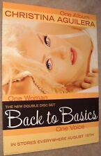Christina Aguilera poster - Back To Basics - promo poster