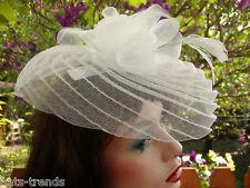 Fascinator festlich Kopfschmuck  elegant   Hochzeit  Fest  Anlasshüte Damenhüte