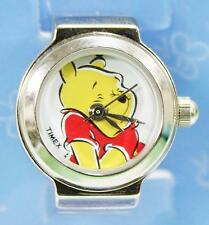 Brand New Timex T87401 Winnie the Pooh Stainless Steel Analog Stretch Ring Watch