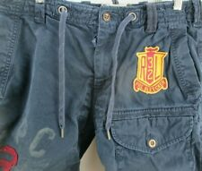 Polo Ralph Lauren Distressed Drawstring Thick Cargo Shorts PRL Size 32