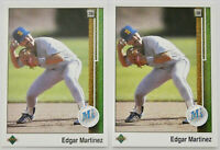 1989 UPPER DECK BASEBALL Edgar Martinez 2x Rookie Card Lot NM #768 Mariners HOF