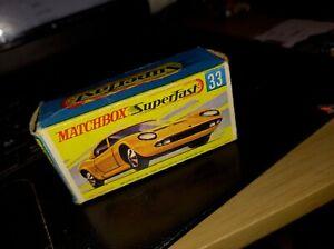 MATCHBOX SUPERFAST 33 LAMBORGHINI MIURA P400  Box only