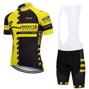 2020 Race Bicycle Cycling Short sleeve Riding Jersey Bib Shorts Kits Pro Uniform