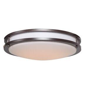 """Access Lighting Solero 18"""" LED 1 Light Flush Mount, Bronze - 20466LEDD-BRZ-ACR"""