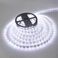 TIRA LED DE 5 M LEDS 3528 LUZ BLANCA FRIA 12V 4,8W/M 300 LEDS RESISTENTE AGUA