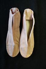 NEW REPETTO PARIS Full Leather Pink Ballet Slippers, Leather Sole SIZE 9