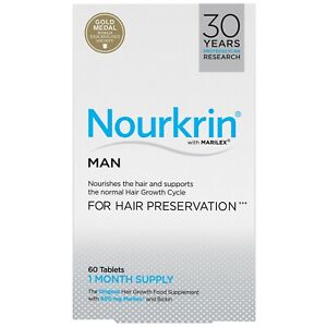 Nourkrin Hair Growth & Preservation for Man 60 Tablets (1 Month Supply)