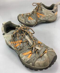 Merrell Womens 8 Hiking Trail Shoes Brindle Aluminum Vibram Soles Waterproof