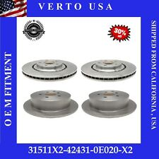 Front+ Rear Brake Rotors For Toyota Sienna 2011 to 2019, Highlander 2014 to 2018