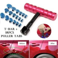 Small Auto Body Paintless Dent Puller Tabs T-Bar Suction Tools Removal Kit