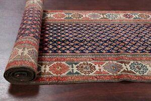 Antique Vegetable Dye Bote All-Over Heriz Bakhshayesh 15 ft Long Runner Rug 3x15
