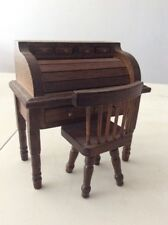 Very Nice Desk With Chair Old America Miniature Vintage