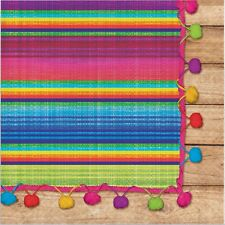 MEXICAN FIESTA SERAPE PARTY SUPPLIES LARGE NAPKINS SERVIETTES (PACK OF 16)