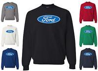 Licensed Ford Logo Crew neck Sweatshirt Mustang Truck F-150 Muscle Sweatshirt