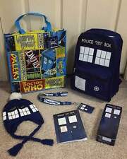 Doctor Who Show Bag with TARDIS bag, backpack, beanie, notebook, tin case