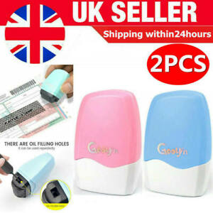 2Pcs Identity Theft Protection Roller Stamp Privacy Confidential Data UK NEW HOT