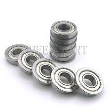 "10 pcs [FR8zz] MR8 1/2"" x 1-1/8"" x 5/16"" Metal Shielded  Flanged  Ball Bearings"