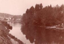 Seine river Saint Cloud Bas Meudon old Photo 1900