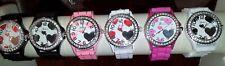 Job lot 22 pcs Rubber Silicone Diamante heart gel Watches new wholesale - lot G