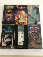 RARE HORROR VHS LOT Slasher 80's/ 90's Uncaged/Witchboard 2/Night Terrors/More