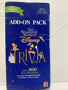Wonderful World of Disney Trivia Cards Adult Add on Pack 800 Questions Cards New