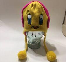 Tweety Bird Warner Bros Looney Tunes Yellow Knit Cap Hat Ski Snow Beanie Scully