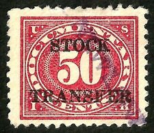 OLD 1920 us stock transfer revenue stamp sc#RD36 xf very lite thin