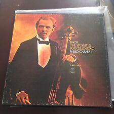 PABLO CASALS, BACH THE SIX SUITES FOR CELLO SOLO BOX 3 VINYL LP'S