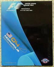 UNITED STATES GRAND PRIX FORMULA ONE F1 2004 INDIANAPOLIS Official Programme