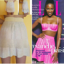 ❤️AZZEDINE ALAIA SKIRT cocktail 1996 spring-summer point Pretty pale yellow