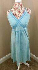 Athleta Blue Empire Waist Dress Shelf Bra Double Criss Cross Straps Size XL