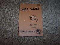 Caterpillar Cat DW20 Tractor 6W1- 6W274 Factory Parts Catalog Manual