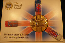 royal mint 50 years of the mini gold coin + crystal head and tail lights in card