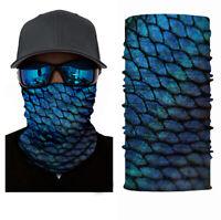 UV SUN Protection Mahi Fishing Scarf,Neck Gaiter Face Mask Fishing Boat Dorado