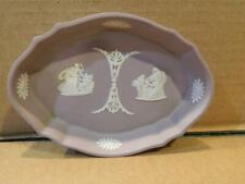 "Wedgwood Lilac Jasper Ware Oval Pin Tray ""Asleep/Oracle"" 1960"
