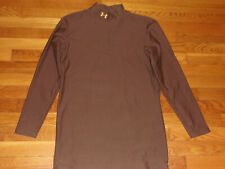 UNDER ARMOUR COLDGEAR LONG SLEEVE BROWN MOCK COMPRESSION JERSEY MENS 2XL EXC.
