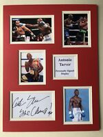 "Boxing Antonio Tarver Signed 16"" X 12"" Double Mounted Display"
